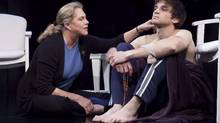 "Kathleen Turner and Evan Jonigkeit in ""High"" (Lanny Nagler)"