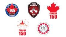 Proposed logos for Canada's 150th birthday are shown in a handout photo. (CANADIAN HERITAGE/THE CANADIAN PRESS)