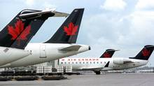 File photo of Air Canada planes at the Toronto's Pearson Airport. (TOMMY CHENG/AFP/Getty Images)