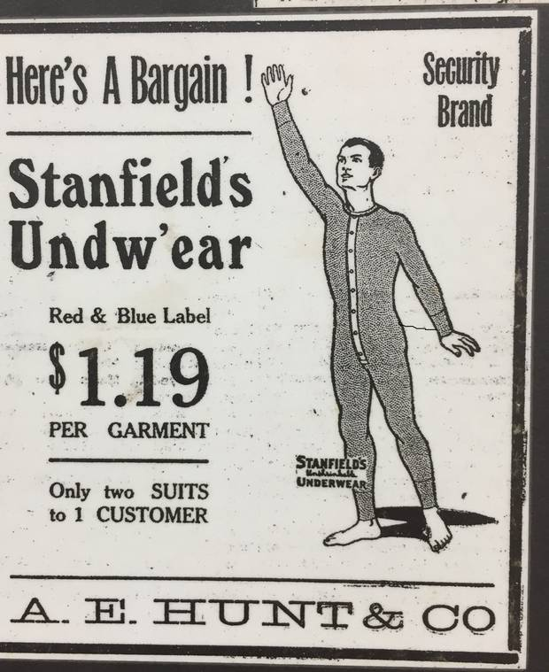 At the end of the 19th century, Stanfield's created a name for itself by selling full-body long underwear to those heading northwest to strike it rich in the gold rush