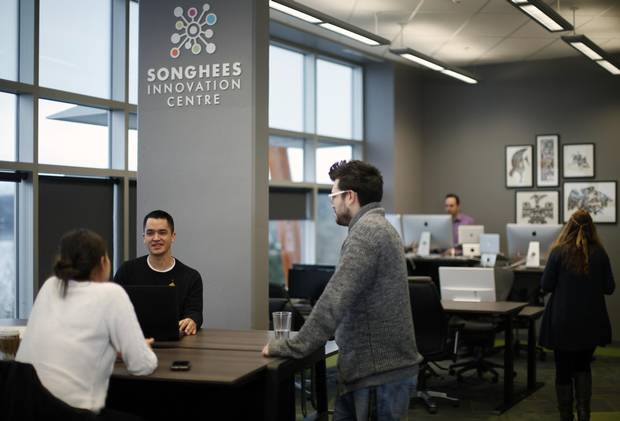 The Songhees Innovation Centre opened in January on the top floor of the stunning 55,000 square-foot Songhees Wellness Centre overlooking Esquimalt harbour in B.C.