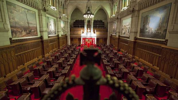 A view of the Senate chamber on Parliament Hill in Ottawa on Jan. 13, 2011.