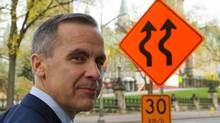 Mark Carney, Governor of the Bank of Canada, makes his way to a press conference (Sean Kilpatrick/The Canadian Press)