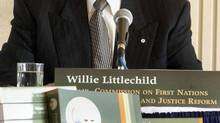 Willie Littlechild, shown in 2004, says there are still 12,000 residential school survivors living in Alberta, more than any other province, with the majority of them in and around Edmonton. (GORD WALDNER/THE CANADIAN PRESS)