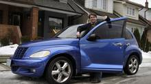 "Canadian actor Ephraim Ellis and his 2003 Chrysler PT Cruiser. The car's nickname Eileen is taken from the song ""Come on, Eileen"" by Dexys Midnight Runners from to the sounds the car makes when going up hills in the winter. (Fernando Morales/The Globe and Mail)"