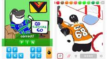 Diabolical or clever? Social game takes player submissions of hockey-themed pictures in a new advertising deal with the NHL, as seen in these screenshots from the leagues's Pinterest page (Pinterest.com/thenhl)