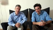 Steven Levitt, left, and Stephen Dubner have a new book: Think Like a Freak. (Michael Scott Berman/Rapport)