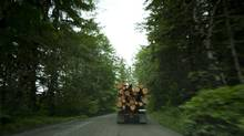 A logging truck near Duncan, B.C., on Vancouver Island. Companies that sell lumber, pulp and paper are clamouring for the attention of applicants who would otherwise be drawn to the higher pay offered in the energy sector. (John Lehmann/The Globe and Mail)