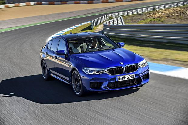 The latest M5 has all-wheel drive for the first time.