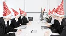 Christmas at work. (Christopher Pattberg/Getty Images/iStockphoto)