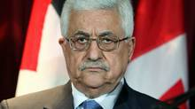 Palestinian Authority president Mahmoud Abbas looks on during an Ottawa news conference in May of 2009. (FRED CHARTRAND/The Canadian Press)