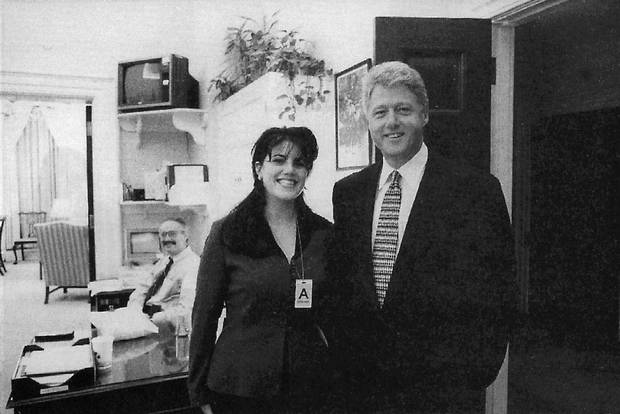 Bill Clinton and Monica Lewinsky at the White House in 1995.
