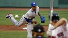 Toronto Blue Jays starting pitcher Marcus Stroman delivers to the Boston Red Sox during the first inning of a baseball game at Fenway Park in Boston, Tuesday, July 29, 2014. (Elise Amendola/AP)