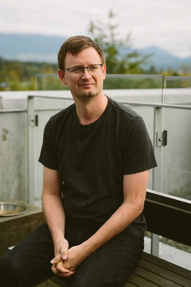 Markus Frind shot at his condo overlooking Cole harbour in Vancouver