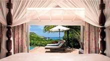 At Hôtel Le Toiny 15 villas look out onto the Caribbean Sea.