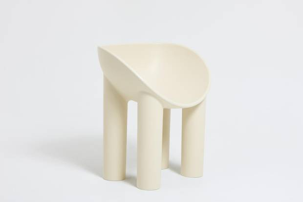 The fibreglass Roly Poly dining chair.