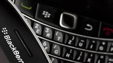 BlackBerrys are facing competition in the government sector from other smartphones. (VALENTIN FLAURAUD/REUTERS)