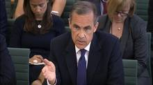Governor of the Bank of England Mark Carney gives evidence to the Commons Treasury Committee at Portcullis House, London, Tuesday, June 24, 2014. (PA/ap)
