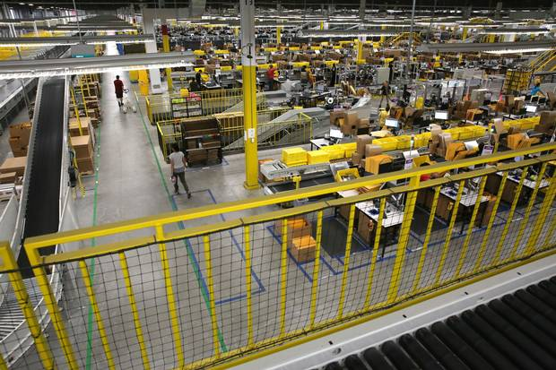 The Amazon fulfillment centre in Brampton. Marketing professor Alan Middleton says the GTA has everything the company is looking for, but Amazon is unlikely to move out of the U.S.