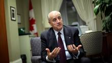 International Co-operation Minister Julian Fantino in his office on Parliament Hill, Monday December 3, 2012. (Fred Chartrand for The Globe and Mail)