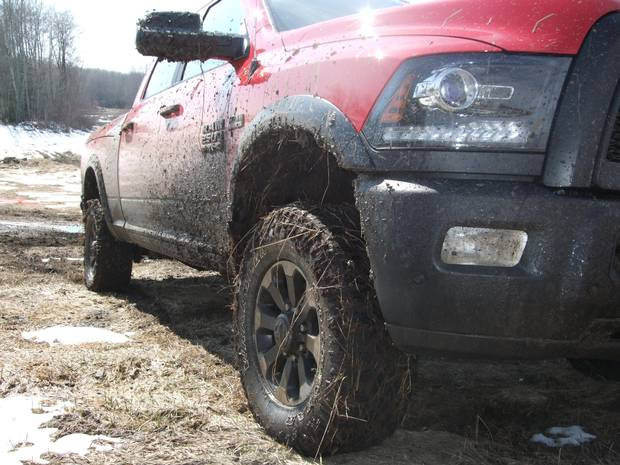 Agile suspension and plenty of power makes the Power Wagon a great off-road truck.
