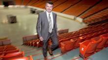 Scott Ferguson, Interim President and CEO of Trade Centre Limited stands in the Halifax Metro Centre arena Monday. (Sandor Fizli for the Globe and Mail/Sandor Fizli for the Globe and Mail)