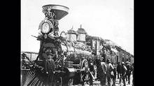 The first train to arrive in Vancouver, in 1887. (Vancouver Archives)