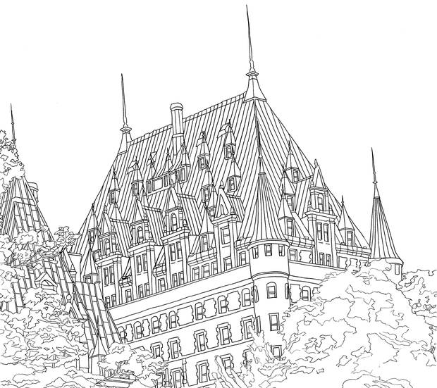 Fairmont Le Chateau Frontenac Is Among The Canadian Sites Featured In Legendary Landscapes Coloring Book