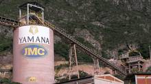 Yamana Gold 's Jacobina mine in northern Brazil, 9 km from the town of Jacobina. It is a long-life, underground mine. (Yamana Gold)