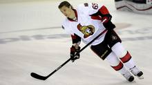Ottawa Senators defenceman Erik Karlsson (65), of Sweden, skates during warm ups before an NHL game against the Washington Capitals, Thursday, April 25, 2013, in Washington. (Nick Wass/THE CANADIAN PRESS)