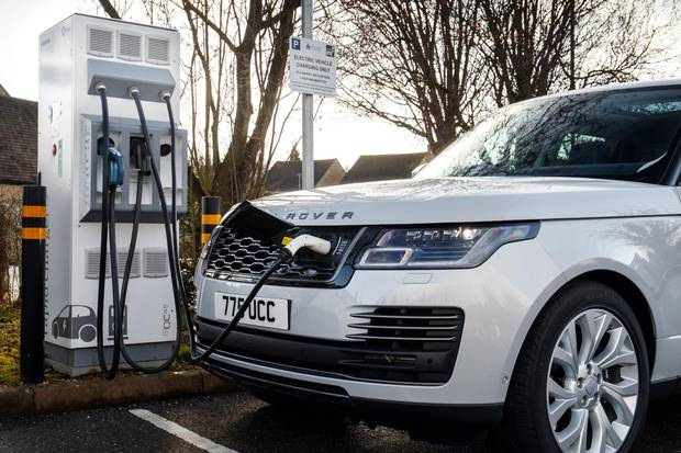 The PHEV can drive 50 kilometres on electricity before switching to gas.