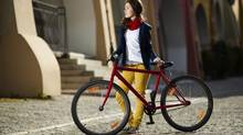 Now that the fashion world is on board, it's easier to cycle through the urban jungle while looking effortlessly chic. (Thinkstock)