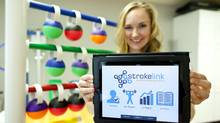 Morgan Moe is co-founder of StrokeLink. (Jeff McIntosh for The Globe and Mail)