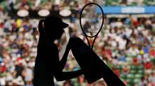 Silhouette of female tennis player at the Australian Open tennis tournament in Melbourne (TIM WIMBORNE/REUTERS)