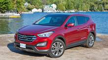 The 2013 Hyundai Santa Fe won its category at the AJAC TestFest. (Hyundai)