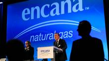 Randy Eresman, president and CEO of EnCana, addresses shareholders at the company's annual general meeting in Calgary, Alberta, April 25, 2012. (Reuters)