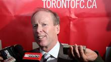 Toronto FC's President Kevin Payne talks with the media during the team's media open day at the club's training complex in Toronto on Tuesday January 22, 2013. (The Canadian Press)