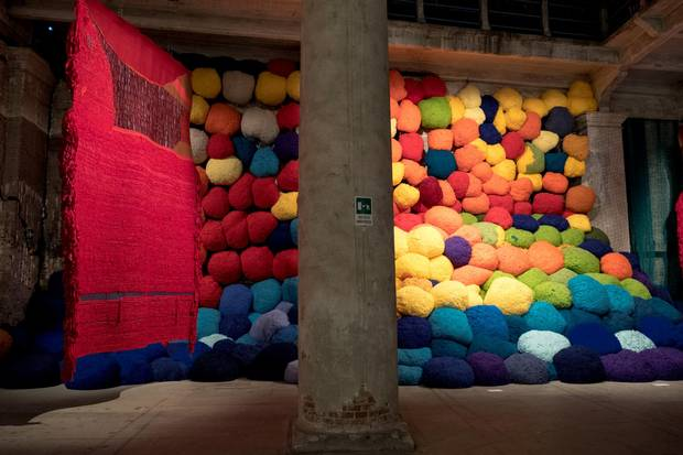 Escalade Beyond Chromatic Lands at The Pavilion of Colors by Sheila Hicks.