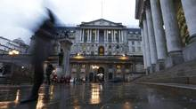 The Bank of England in the City of London (OLIVIA HARRIS/Reuters)
