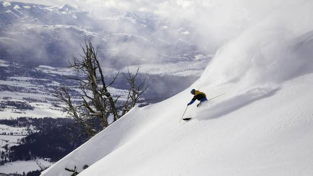 Jackson Hole Mountain resort challenges skiers, and offers some incredible views.