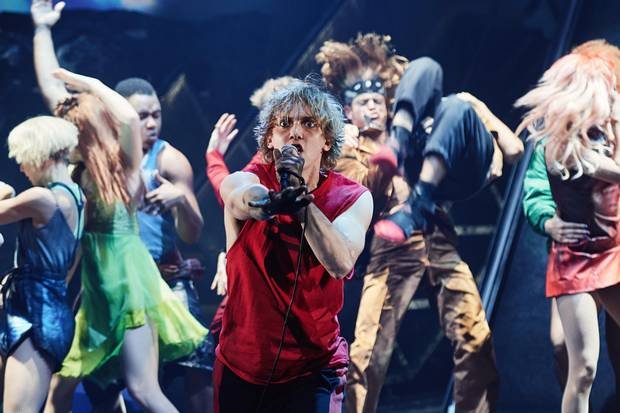 Andrew Polec as Strat in Bat Out of Hell: The Musical.