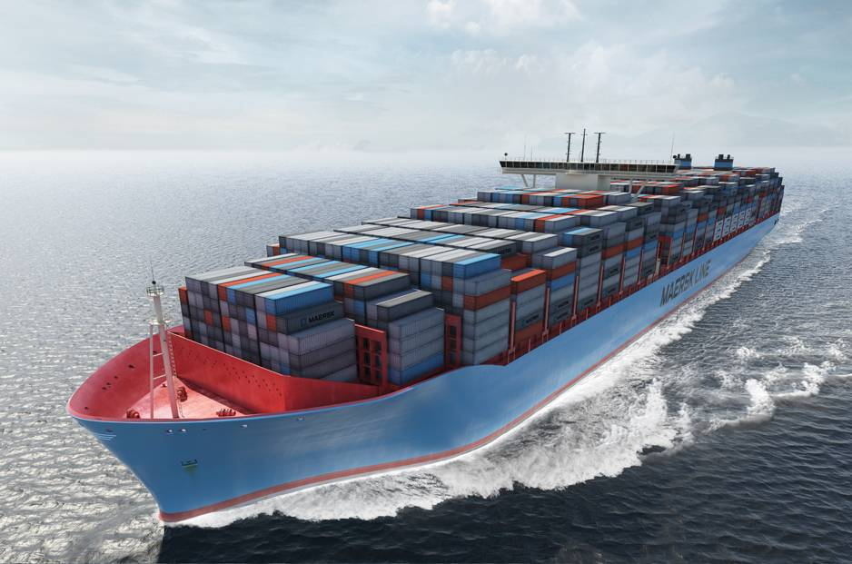 The world's biggest container ships prepare for delivery