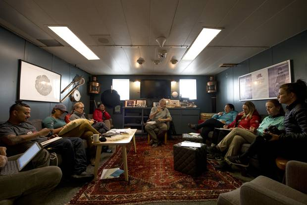 The Gord Downie-Chanie Wenjack Legacy Room on the Polar Prince, reserved primarily for conversations about reconciliation.