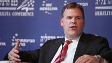 Canadian Foreign Minister John Baird takes part at a panel discussion during the Herziliya Conference. Wednesday, Feb. 1, 2012, in Herzliya, Israel. (Dan Balilty/AP)