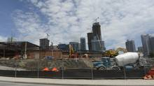 Construction sites in downtown Toronto. (Fred Lum/The Globe and Mail)