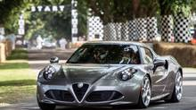 The two-seat 4C will be launched in Europe later this year. (Alfa Romeo)