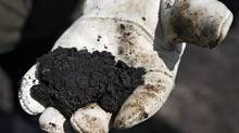 Raw oil sands bitumen. European countries are proposing crude from the oil sands be deignated dirtier than conventional oil. THE CANADIAN PRESS/Jeff McIntosh (Jeff McIntosh/THE CANADIAN PRESS)