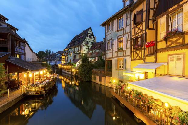 Colmar is in the Haut-Rhin section of the Alsatian Wine Route, about an hour's drive from Strasbourg and a popular destination for wine touring