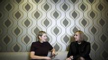Katherine McCartney, right, director of operations for TED, and Janet McCartney, director of events for TED, are photographed at their offices in North Vancouver. (Rafal Gerszak for The Globe and Mail)