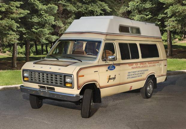 The camper van that served as Terry Fox's home during his Marathon of Hope.